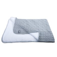 Baby's Only Cot Coperta Teddy Cable Grigio