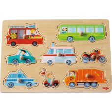 Haba Inlay Puzzle Vehicle World