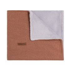 Solo neonati Coperta culla Teddy Sparkle Copper-Honey Melange