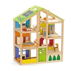 Hape 4 Seasons Dollhouse + Mobili